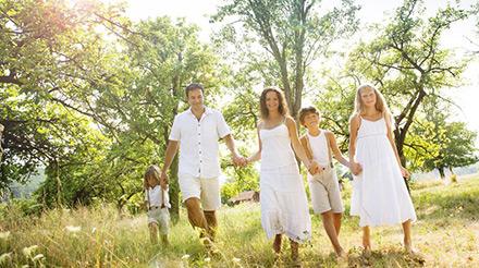 Gebas domy - rodina